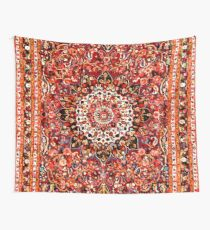 Antique Floral Persian Rug Pattern Wall Tapestry