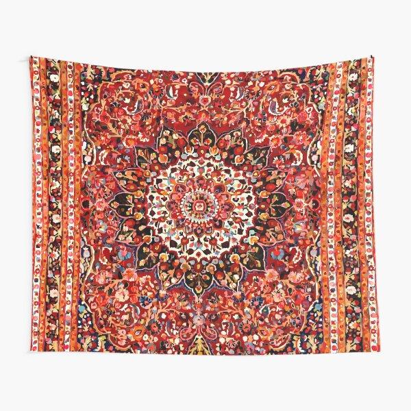 Patrón de alfombra persa floral antiguo Tela decorativa