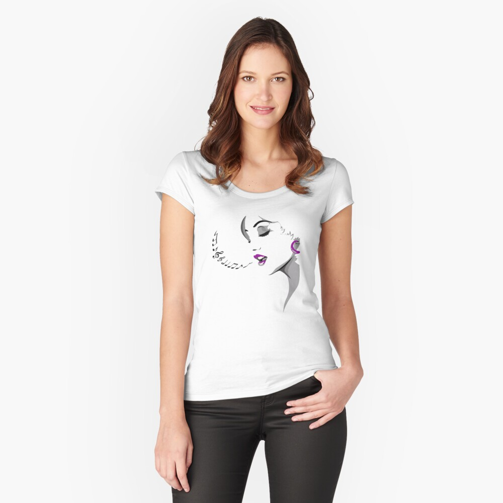 Female Crooner Women's Fitted Scoop T-Shirt Front