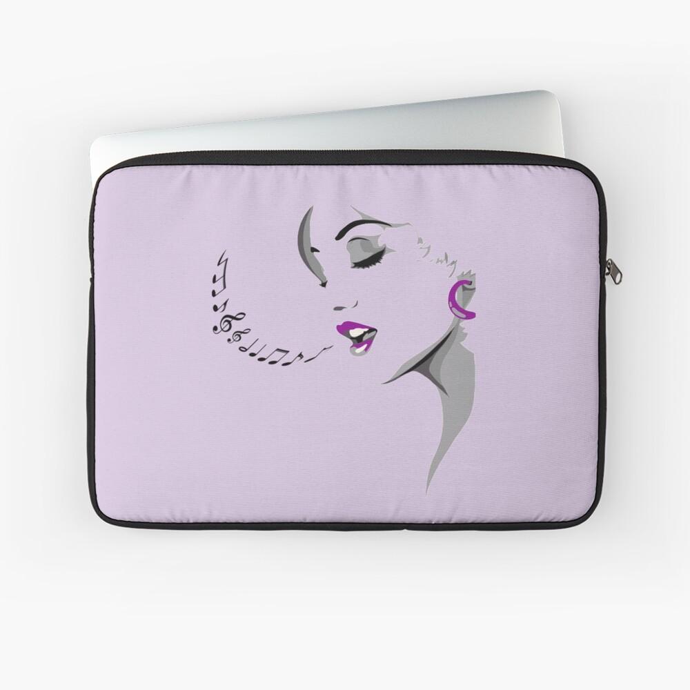 Female Crooner Laptop Sleeve Front