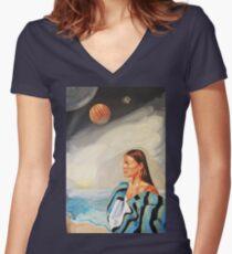 I Made the Break (Self Portrait) Women's Fitted V-Neck T-Shirt