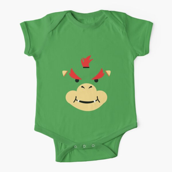 Bowser Jr Short Sleeve Baby One-Piece