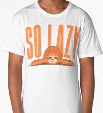 Funny Procrastination Sloth - So Lazy Person Humor Long T-Shirt