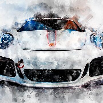 Porsche Watercolor by MrColgate