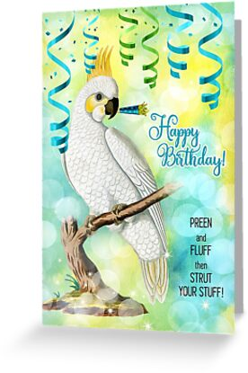 Parrot Lover Birthday with Cockatoo by Doreen Erhardt
