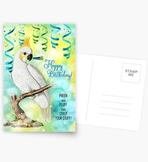 Parrot Lover Birthday with Cockatoo Postcards