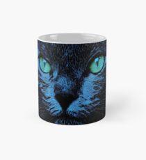 BLUE CAT ON BLACK Tasse (Standard)