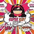 Get Well for Kids Girl Pink Superhero Comic Book Theme by Doreen Erhardt