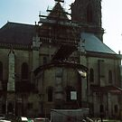 Rear of Saint-Cyr-et-Sainte-Julitte-de-Nevers Cathedral Nevers France 19840828 0004  by Fred Mitchell