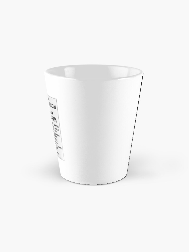 Alternate view of I AM DEATH    Mug