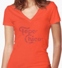 Topo Chico Tailliertes T-Shirt mit V-Ausschnitt
