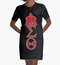 Elephant Delta Triangle Sigma Red Theta T-Shirt 2 Graphic T-Shirt Dress