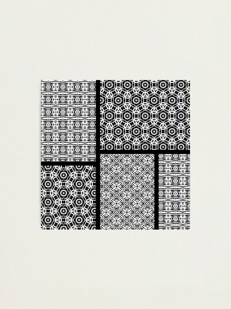 Alternate view of Shibori Quilt Ornament Photographic Print