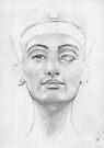 Bust of Nefertiti by Aakheperure