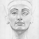 Bust of Nefertiti by Aakheperure