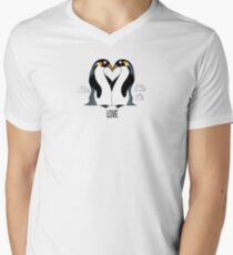 Penguin Love Men's V-Neck T-Shirt