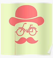 Retro cylinder bicycle Poster