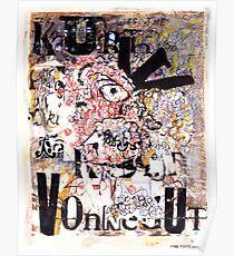 Kurt Vonnegut Porträt Poster