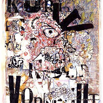 Kurt Vonnegut Portrait by karlfrey