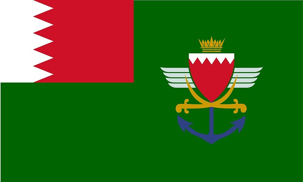 Flag of Bahrain Defence Force  by ofmany