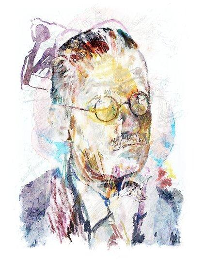James Joyce Porträt von Karl Frey