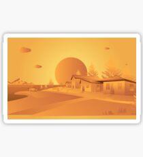 orange Mars Sticker