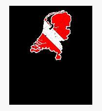 Netherlands Scuba Dive Shirt Rescue Diver Flag Shirt Photographic Print