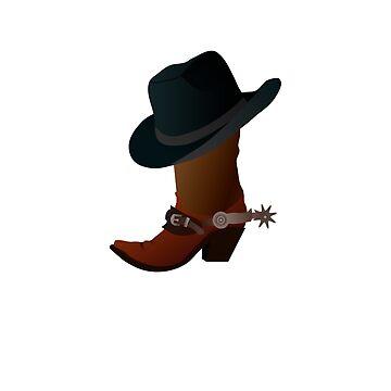 Funny Yeehaw! Cowboy  by gearof