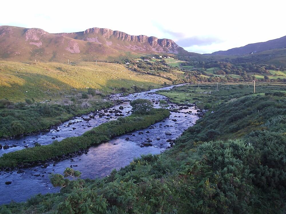 River Caragh Glenbeigh Co Kerry Ireland by James Cronin