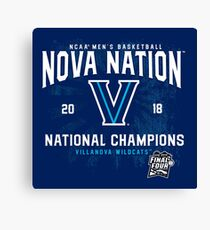 Villanova 2018 National Champions Shirt: Nova Nation Basketball Canvas Print
