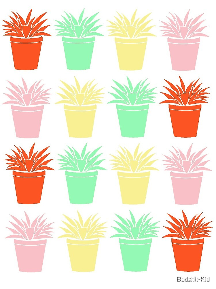 Potted Plant Pattern by Badshit-Kid