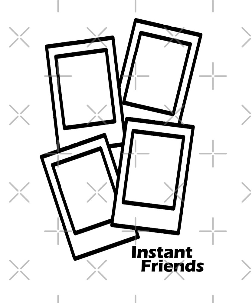 Instant Camera 80's Retro Film Photography Friends by adoms