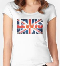 Lewis Hamilton - British Flag Women's Fitted Scoop T-Shirt