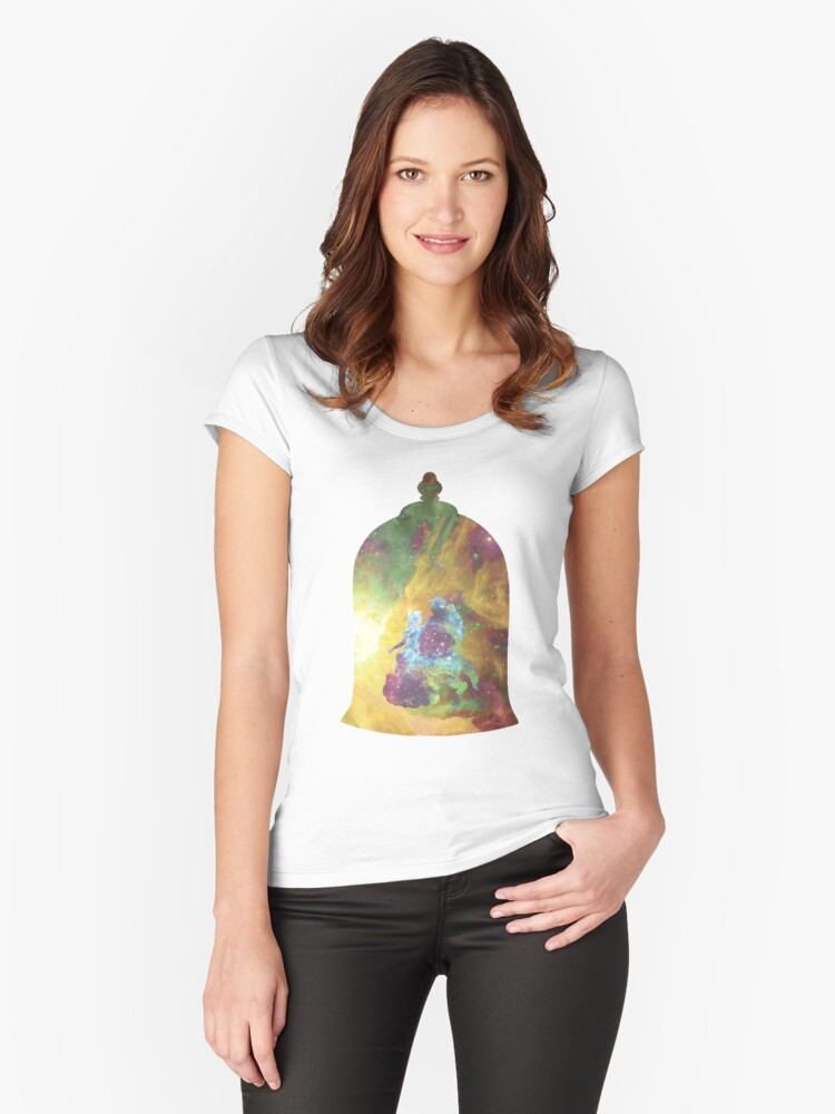 Under Your Spell [Beauty And The Beast] Women's Fitted Scoop T-Shirt Front