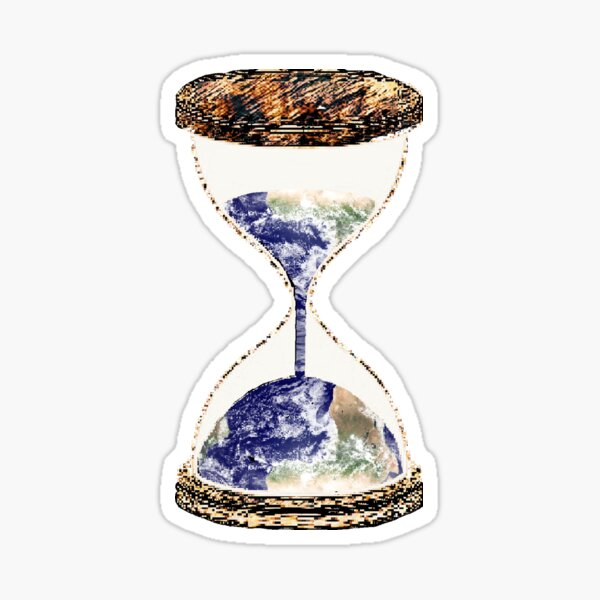 Earth Within an Hourglass Sticker