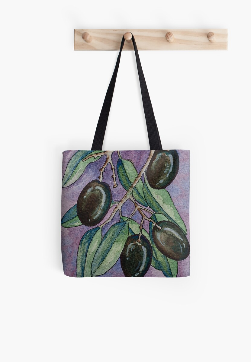 Watercolor olive branch by RedFinchDesigns