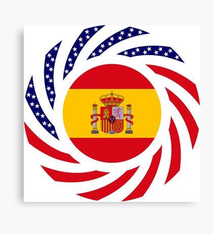 Spanish American Multinational Patriot Flag Series Canvas Print