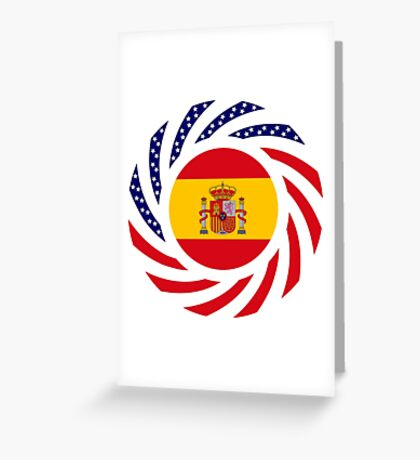 Spanish American Multinational Patriot Flag Series Greeting Card