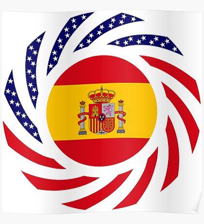 Spanish American Multinational Patriot Flag Series Poster