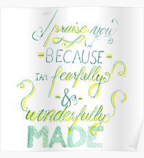 I Praise You Because I Am Fearfully and Wonderfully Made Poster