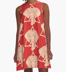 Elephant Delta Triangle A-Line Dress