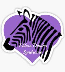 Ehlers Danlos Syndrome Awareness - Purple Heart Zebra Sticker