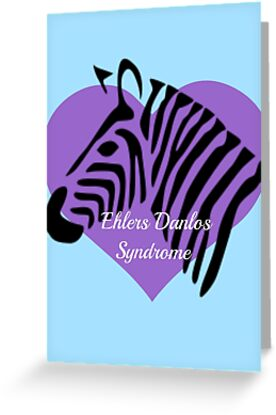 Ehlers Danlos Syndrome Awareness - Purple Heart Zebra by MysticalCrazy