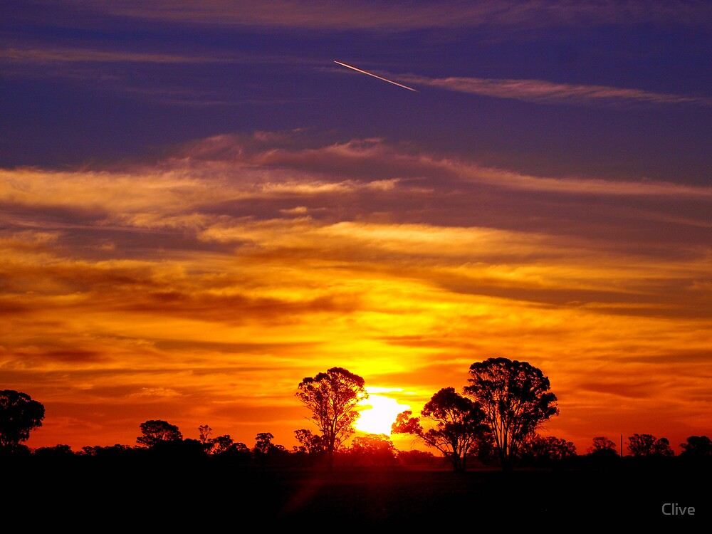 Quot Northern Plains Sunset Quot By Clive Redbubble