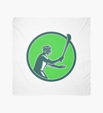 Hurling Player Icon Retro Scarf