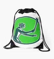 Hurling Player Icon Retro Drawstring Bag