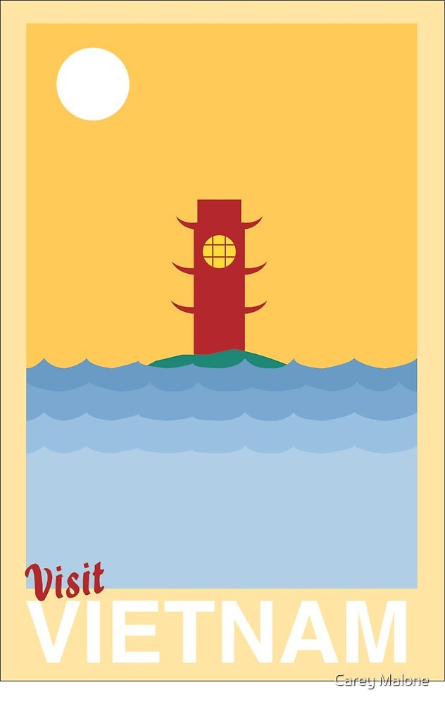 Vietnam Travel Poster by Carey Malone