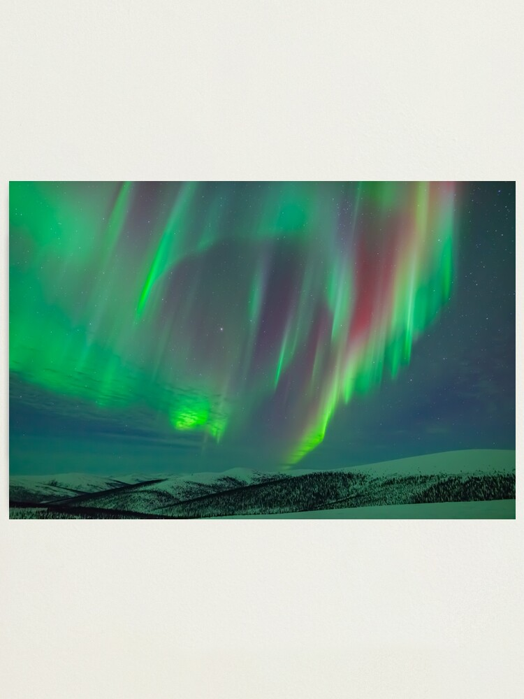 Alternate view of Aurora Ridgeline Photographic Print