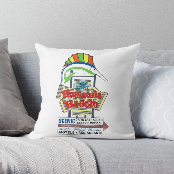 "Pensacola Beach ""Electric Fish"" Throw Pillow"