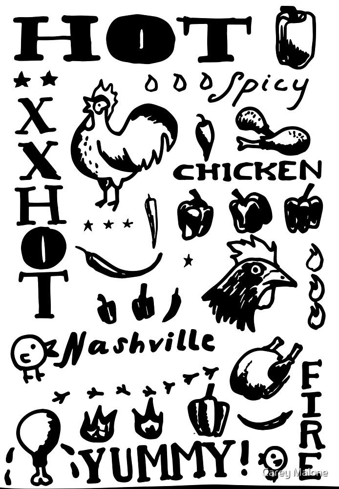 Nashville Hot Chicken Pattern by Carey Malone